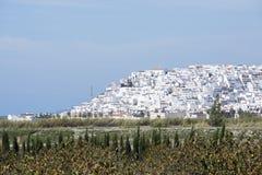 在马拉加附近的托罗克斯角村庄在西班牙 库存照片