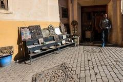 在马拉喀什,摩洛哥麦地那的市场  免版税库存图片
