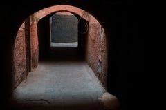 在马拉喀什souk的曲拱 免版税库存照片