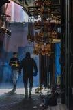 在马拉喀什souq,摩洛哥 免版税图库摄影