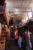 在马拉喀什著名souks  免版税图库摄影