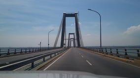 在马拉开波湖的桥梁  免版税图库摄影
