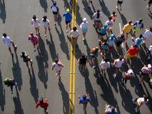 在马拉松运动员之上 免版税库存照片