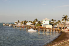 在马拉松钥匙的江边大厦,佛罗里达 库存图片
