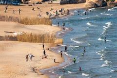 在马拉维湖的海湾 免版税库存图片
