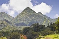 马提尼克岛山  免版税库存图片
