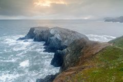 在马林陆岬的暴风云 库存图片