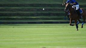 在马球比赛期间,马球在天空中浮动 库存图片