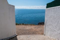 在马略卡海岛上的假日在西班牙 免版税图库摄影