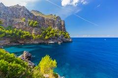 在马略卡海岛,西班牙上的Sa Calobra 免版税图库摄影