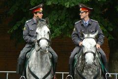 在马的警察 免版税库存照片