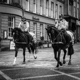在马背上警察 免版税库存照片