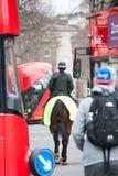 在马背上警察 库存照片