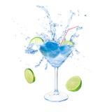 在马蒂尼鸡尾酒玻璃的柑橘coctail 免版税库存图片