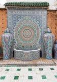 在马赛克工厂的摩洛哥喷泉,菲斯,摩洛哥 库存照片