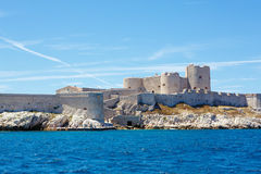 在马赛法国附近的城堡伊夫堡, 库存照片