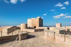 在马赛法国附近防御大别墅d `,如果, 在晴朗的温暖的天 库存图片