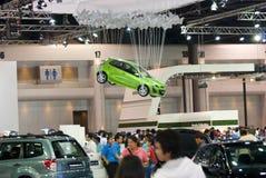 在马达商展泰国的汽车 免版税库存图片