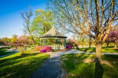 在马里兰大学Notre Dame的眺望台和春天颜色,  免版税库存照片