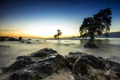 在马里海滩的日出 库存图片