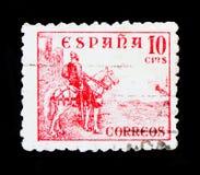在马,数字和Cid serie的车手,大约1939年 库存图片