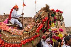 在骆驼的持枪骑兵 免版税库存照片