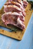 在骨头的猪肉烹调的剁 免版税库存图片
