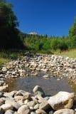 在高加索山脉的松弛看法 图库摄影