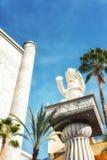 在高地商城的大象雕象在好莱坞,卡利 免版税库存照片