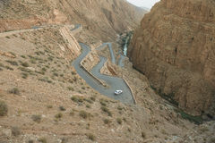 在高地图集摩洛哥人的路 图库摄影