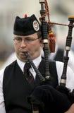 在高地比赛的风笛在苏格兰 库存图片