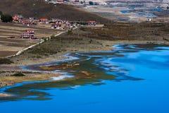 在高地,四川,中国的看法 库存照片