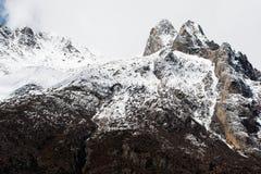 在高地,西藏,中国的看法 免版税图库摄影