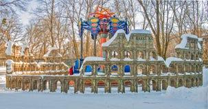 在高尔基公园的吸引力在哈尔科夫 免版税图库摄影