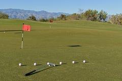 在高尔夫球区 免版税库存照片