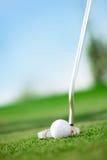 在高尔夫球场的一家高尔夫俱乐部 库存照片