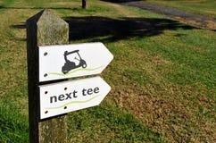 在高尔夫球场的方向标,安大路西亚,西班牙 图库摄影