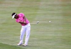 在高尔夫球法国公开赛的Tongchai Jaidee 2015年 免版税图库摄影