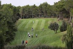 在高尔夫球的孔18,掌握13日2013年 库存照片