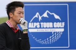 在高尔夫球的Joon金,掌握13日2013年 库存照片