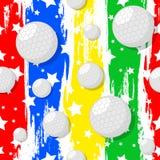 在高尔夫球题材的无缝的样式 皇族释放例证