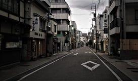 在高山市路的下午期间,日本 库存图片
