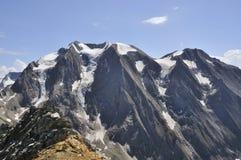 在高山的冰川 图库摄影