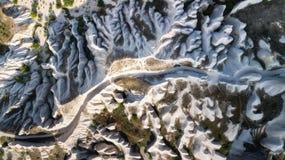 在高山的鸟瞰图 图库摄影