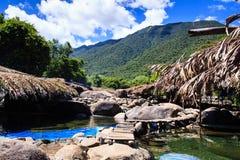 在高山的水小河 库存照片