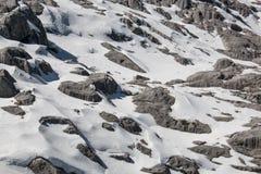 在高山范围的雪 免版税库存照片