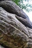 在高岩石, Tunbridge维尔斯,肯特,英国的岩层 库存图片