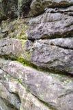 在高岩石, Tunbridge维尔斯,肯特,英国的岩层 免版税库存图片