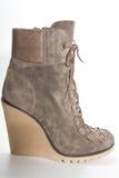 在高平台脚底的妇女的鞋子 库存照片