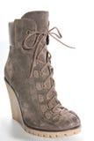 在高平台脚底的妇女的鞋子 免版税库存照片